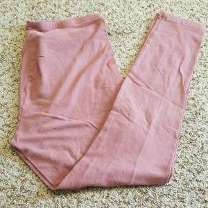 Dusty rose plus size leggings